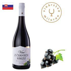 Miluron Víno z čiernych ríbezlí 750ml