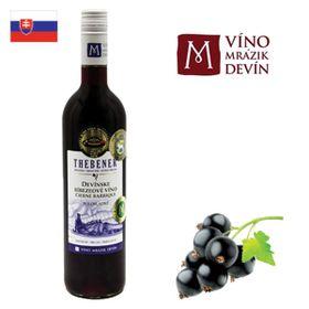 Thebener Devínske ríbezľové víno čierne Barrique 750ml
